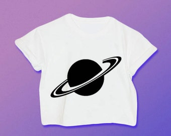 Saturn Shirt // Saturn Crop Top // 90s Grunge // Grunge