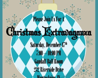 Christmas Extravaganza | Ornament Swap | Party | Christmas Invitation | Ornament Exchange | Office Party | Customize Wording | Invitation