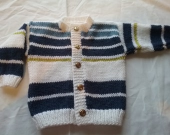 New Hand knitted boys cardigan