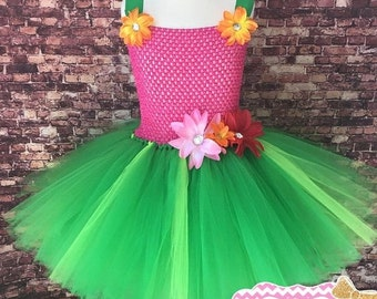 Weekend sale Hawaiian tutu dress. Lilo themed tutu dress. Luau tutu dress.