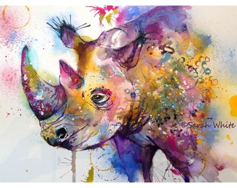 NEW ~ RHINO Giclee Prints A4 & A3