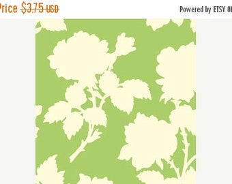 Extra 25% off Sale 1/2 yard Heavy CANVAS Garden District by Heather Bailey for Free Spirit Westminster Nouvelle Rose Green