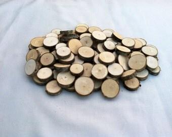 "100 Maple wood slices .75"" - 1.25"""