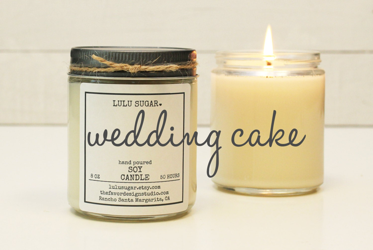 wedding cake scented candle wedding cake scented soy candle 8 oz jar soy candle gift 24031