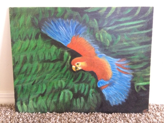 Parrot Flying Painting