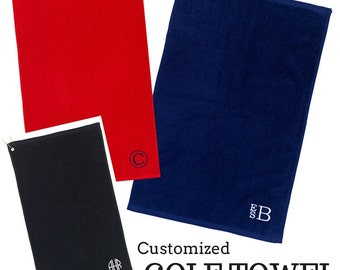 Monogrammed Golf Towels