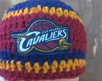 Cleveland Cavaliers  inspired  baby hat, toddler hat, winter hat, photo prop, basketball beanie