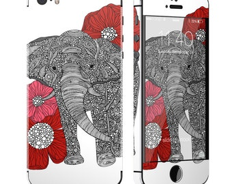 The Elephant by Valentina Ramos - iPhone 5/5S Skin - Sticker Decal