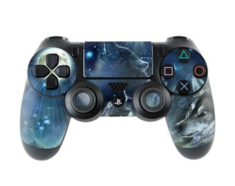 Sony PS4 Controller Skin Kit - Bark At The Moon by Antonia Neshev - DecalGirl Decal Sticker