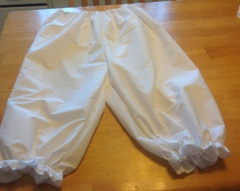 adult size pantaloons knickers bloomers  white black green brown blue red yellow pink orange purple