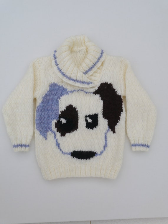 Knitting Patterns Childrens Jumpers : Childrens Knitting Pattern, Sweater Knitting Pattern for Boy and Girl, Puppy ...