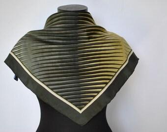 Vintage SILK SCARF , hand rolled silk scarf....(180)