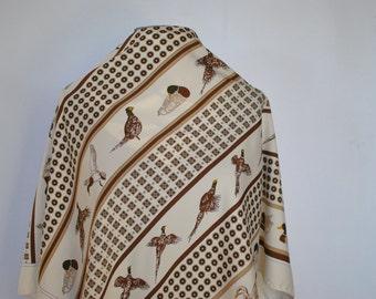 Vintage MANLIO BONETTI printed scarf...(209)