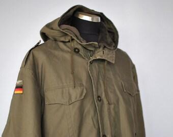 Vintage COATED ARMY parka , vintage men's army parka ...(023)