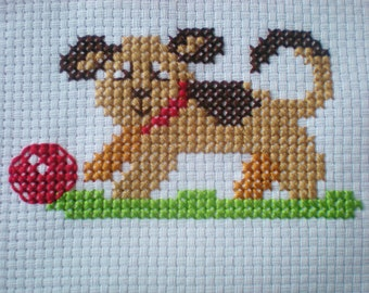 Pawz the Puppy Cross Stitch Kit for Children