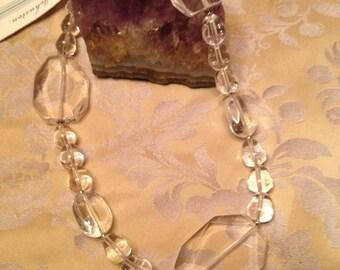 Clear Quartz Faceted Necklace