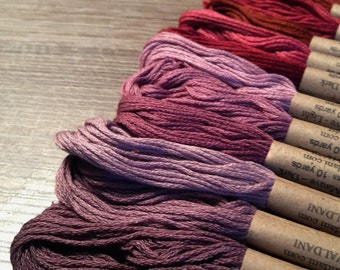 Valdani Set/12  6-ply Cotton Skeins Embroidery Floss - As Time Goes By - Set 1  Collection.