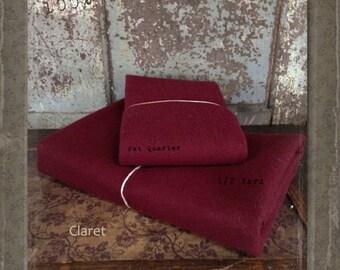 Wool: 1 YARD  Piece 100% Wool - CLARET - Marcus Fabrics