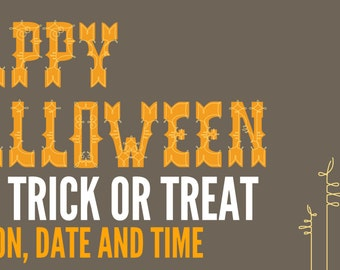 Trick or Treat Happy Halloween Banner