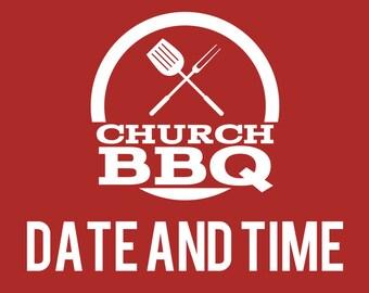 Red Custom Church BBQ Banner