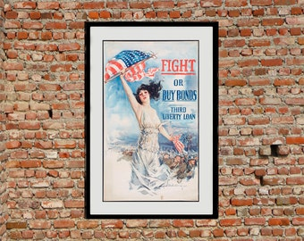 Reprint of WW1 Buy War Bonds Poster