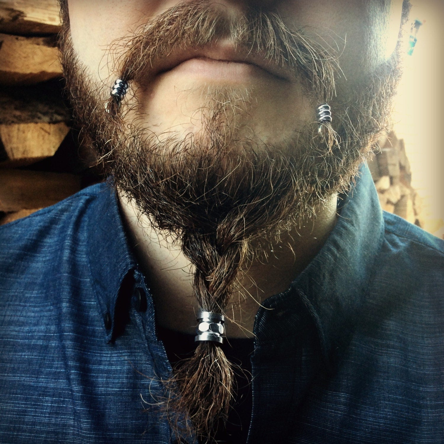 Beard Bead Kit 'Bolton' STAINLESS STEEL industrial beard