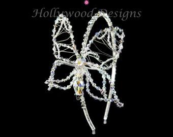 Handmade Bridal Butterfly Wedding Tiara made with Swarovski Crystal