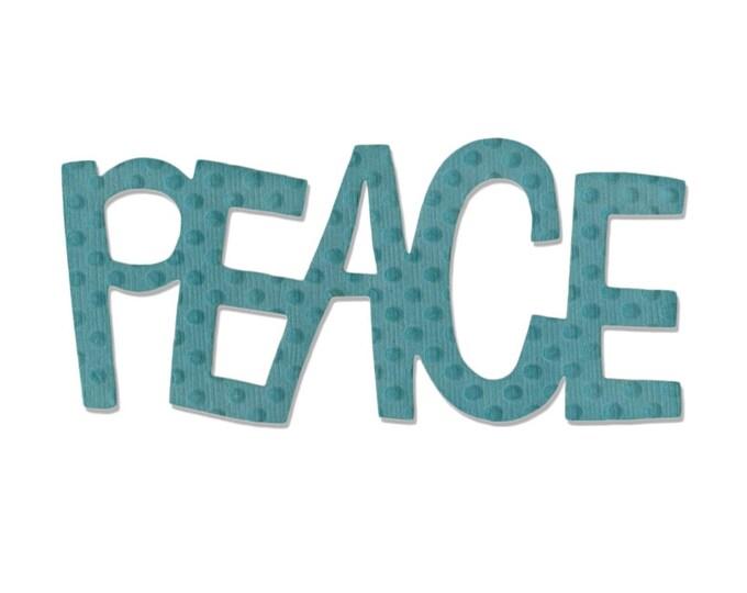 New! Sizzix Medium Originals Die - Phrase, Peace #2 by Stephanie Ackerman