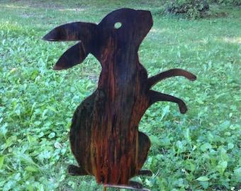 Metal Rabbit Garden Ornament