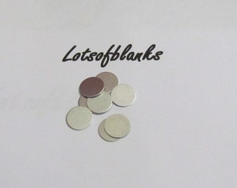 3/8 Circle Blanks -  22 or 24  gauge -Aluminum Hand stamping metal disc  -Stamping Supplies 10 or more