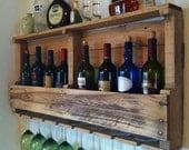 The Original Wine Rack, Distressed, Reclaimed Wood, Rustic Wine Rack, Wall Wine Rack, SALE!! Fast Shipping