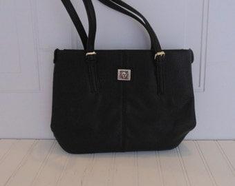 Vintage Anne Klein Purse Vintage Handbag Black Purse
