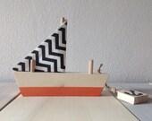 Handmade wooden napkin holder, wooden boat napkin holder - napkin holder wood - kitchen decor - home decor