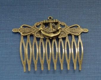 50% OFF Anchor Hair Clip Anchor Hair Piece Beach Wedding hair Anchor Hair Accessories Nautical Hair Comb Nautical Wedding Hair Clips Anchor