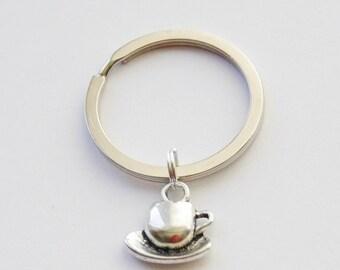 Coffee Mug Keychain Coffee Keychain Coffee Lover Gift Custom Keychain Coffee Key Ring Coffee Mug Keychain Tea Keychain Tea Lover Keychains