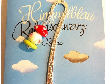 Bookmark with glass mushroom / lucky * Lampwork *.