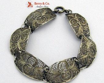 SaLe! sALe! Vintage Filigree Bracelet Scandinavian 835 Standard Silver