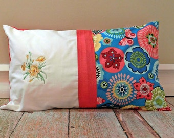 Embroidered Pillow Cover - Sofa Pillow - Throw Pillow - 12 X 20 Pillow Cover - Decorative Pillow Cover - Designer Pillow Cover