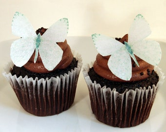 Edible Butterfly Cake Decorations, Pearl White Edible Butterflies, Set of 12 DIY Cake Decor, Edible Cake Decorations, DIY Wedding Cake
