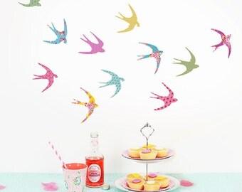 Mini Shanghai Swallow fabric wall stickers