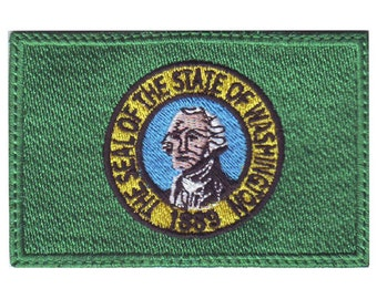 Washington Flag Embroidered Patch