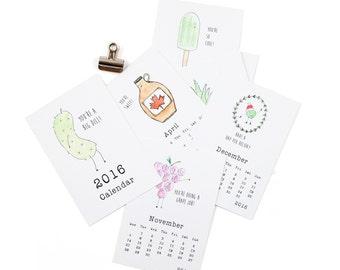 50% off; 2016 Calendar  // Funny Calendar // Cute Calendar // Pun Calendar