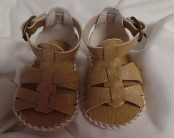 "Tan/Beige Sandals-- for 18"" Dolls--Shown on my American Girl Doll"
