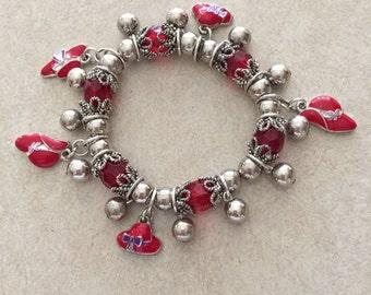 Red Hat Society Bracelet  #109