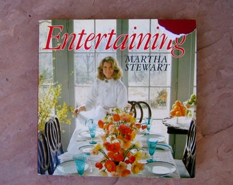 Martha Stewart Entertaining, Martha Stewart Book, 1982 Vintage Cookbooks, Used Cookbooks