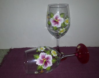 Hand-painted Wine Goblets