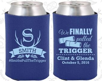 We finally pulled the trigger, Personalized Wedding, Shotgun Wedding Favors, Antler Wedding Favors, Antler Favors, Wedding Can Coolers (564)
