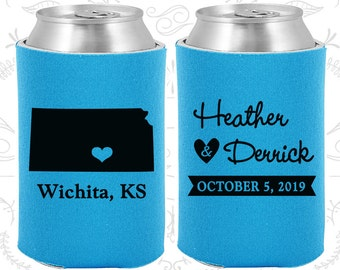 Neon Blue Wedding, Can Coolers, Neon Blue Wedding Favors, Neon Blue Wedding Gift, Neon Blue Party Gift (115)