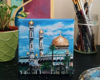 Mini Jame'Asr Hassanil Bolkiah Mosque painting