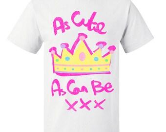 Girls Cute As Can Be Kids T Shirt